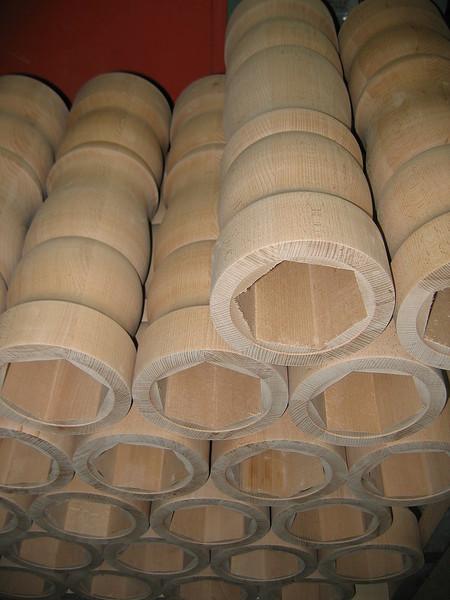 Säulen 6-eckig verleimt